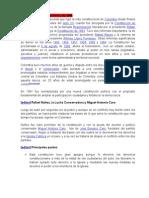 Historia Constitucionalismo Colombiano 1809 1991