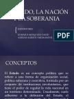 El ESTADO, LA NACIÓN Y LA SOBERANIA