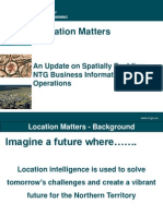 201246 Rudd, Phillip Location Matters - An Update on Spatially Enabling the NT Government