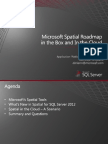 201248 Nagle, Darien Microsoft Spatial Roadmap in the Box and in the Cloud