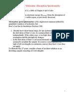 UV-Vis Molecular Absorption Spectrometry