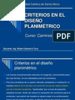 20 CRITERIOS DISEÑO PLANIMETRICO