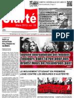 Clarté et Jeunesse Militante Édition Mars 2012