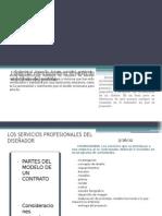 LA PROFESIONALIZACION DE LOS SERVICIOS DEL DISEÑADOR INDUSTRIAL