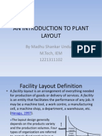An Introduction to Plant Layout