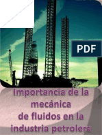 importancia de la mecanica de fluidos en la industria petrolera