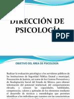 EXPOSICIÓN DE LA DIRECCIÓN DE PSICOLOGÍA