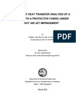 Transient Heat Transfer Analysis of a Solid with a Protective Fabric System under Hot Air Jet Impingement [Thesis Report]