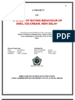 Mkt Buying Behaviour of Amul Ice Cream