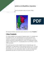 Clima Templado en la República Argentina