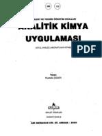 Analitik Kimya Uygulaması Kitabı