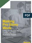 Making Pro Bono Work
