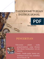 Taksonomi Tujuan Pembelajaran
