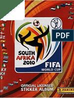 Album Cromos Panini - Mundial Futbol 2010 SUDAFRICA