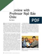 Interview With Professor Ngo Bao Chau - Neal Koblitz