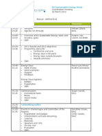 Agenda Eusew Coordination Meeting 26 March
