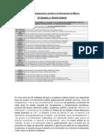 Leyes de transparencia y acceso a la información en México