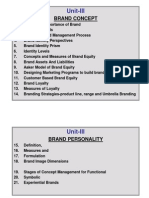 Unit-III IV Brand Management