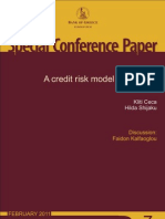 A Credit Risk Model for Albania