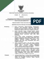 PMK 025 Pmk05 2012 Pelaksanaan ThnLalu DIPA ThnDepan