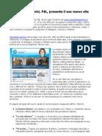 Mariastella Gelmini presenta il suo nuovo sito all'insegna del web 2.0