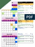 2009 Swim Calendar
