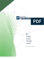 Neutral Tandem Annual Report 2007