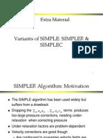 Variants of SIMPLE