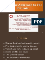 Ayurvedic Approach to the Patients