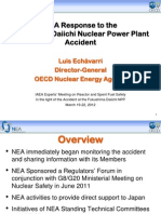 NEA Response to the Fukushima Daiichi Nuclear Power Plant Accident, Luis Echávarri, Deputy Director General, OECD - NEA