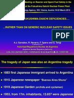 Focusing on Fukushima Daiichi Deficiencies - A.J. Gonzales, Argentina