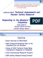 OECD/ NEA Technical Assessments and Nuclear Safety Research