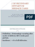 Study of Secondary Postpartum Hemorrhage Cases1