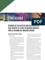 Resumen aspectos relevantes reforma laboral 2012