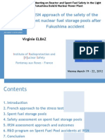Elbaz - IRSN Approach to Safety of SNF storage pools after Fukushima