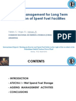 Ageing Management for Long Term Operation of Spent Fuel Facilities - Versaci Argentina