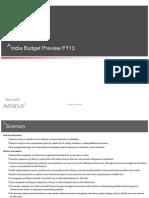 Avendus Budget Analysis