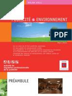 Bilan Publicite Et Environnement 2011