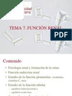 Tema 7. Función renal