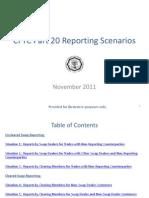 CFTC Reporting Scenarios