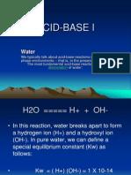 ACID-BASE I