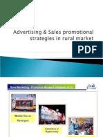 Advertising Sales Promotional Strategies in Rural Market