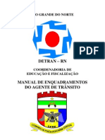 MANUAL DE ENQUADRAMENTOS DO AGENTE DE TRÂNSITO DO CPRE