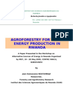 Agroforestry Production for Energy Production in Rwanda
