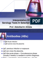 Interpretation of Serology Tests in Selected Infections