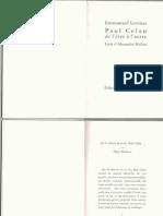 LEVINAS Paul Celan de l'être à l'autre