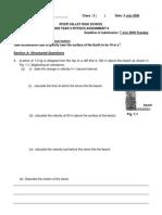 2009 Kinematics Assignment 7