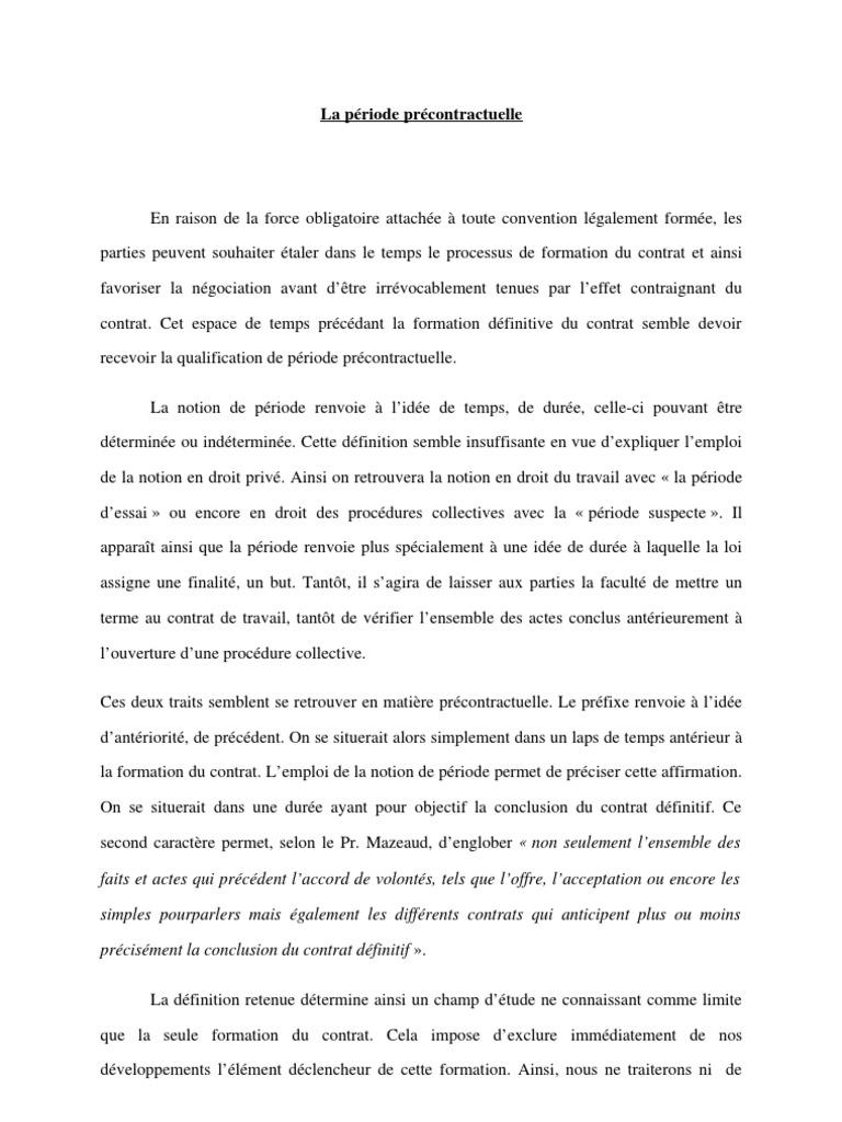 Dissertation offre de contracter