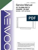 Plasma Daewoo Dpp 4272 Dp 4220 Dt 4280 Sp-200
