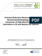 ACR Methodology for the Conversion of High-Bleed Pneumatic Controllers in Oil and Natural Gas Systems v1.1